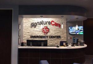 attractive custom lobby signage