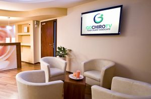 Indoor Lobby With Digital Monitor